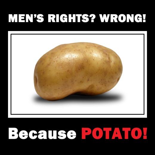 Men's Rights?! Wrong! Because POTATO!11!