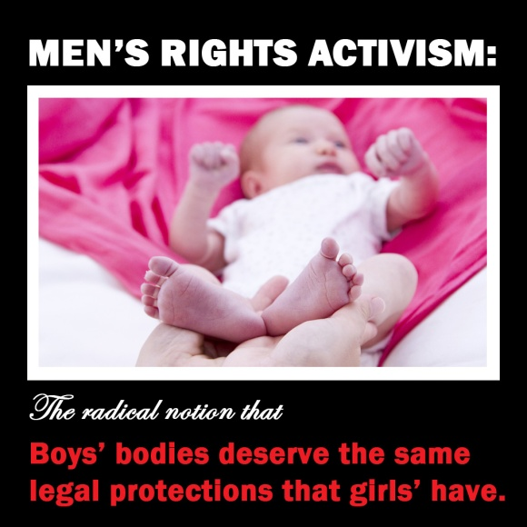 MRA Radical notion that boys deserve the same rights as girls