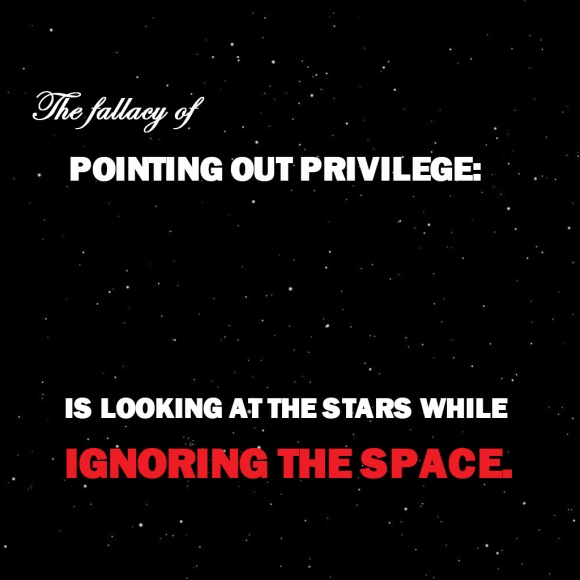 The fallacy of privilege is looking at the stars while ignoring the space