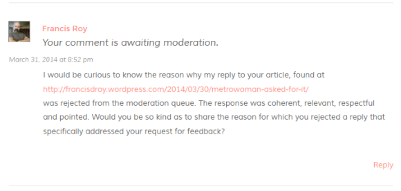Metrowoman-comments-rejected-by-moderator-response