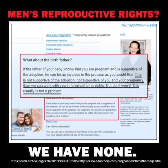 Men have no reproductive rights
