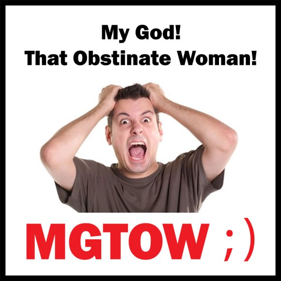 MGTOW: My God! That Obstinate Woman!