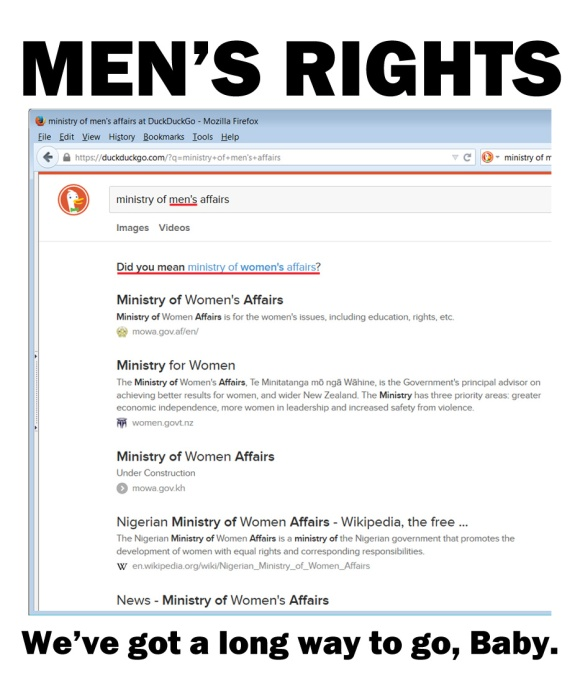 Men's Rights. We've got a long way to go, Baby.