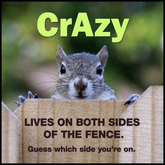 Crazy lives on both sides of the fence. Guess which side you're on.
