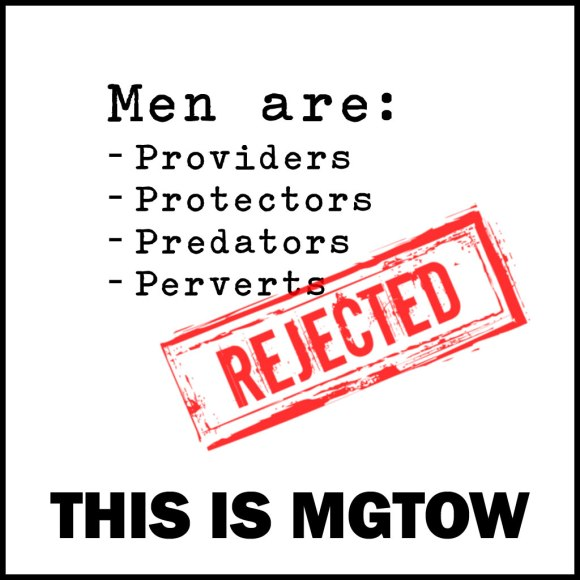 Men are providers, protectors, predators and perverts: REJECTED! MGTOW